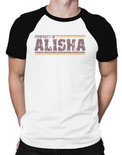 Property Of Alisha - Vintage Raglan T-Shirt