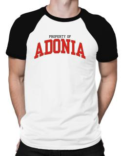 Property Of Adonia Raglan T-Shirt
