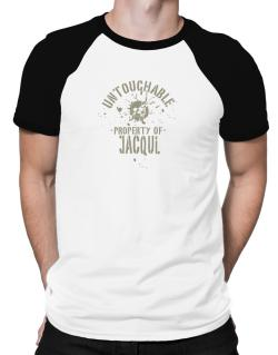 Untouchable Property Of Jacqui - Skull Raglan T-Shirt