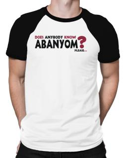 Does Anybody Know Abanyom? Please... Raglan T-Shirt
