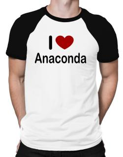 I Love Anaconda Raglan T-Shirt
