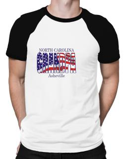 Grandpa Asheville - Us Flag Raglan T-Shirt