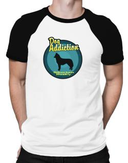 Dog Addiction : Siberian Husky Raglan T-Shirt