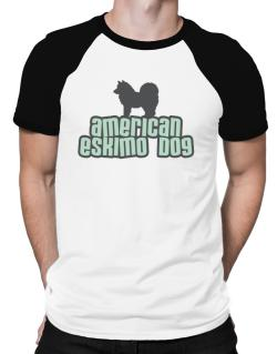 Breed Color American Eskimo Dog Raglan T-Shirt