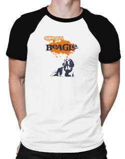 Owned By A Beagle Raglan T-Shirt