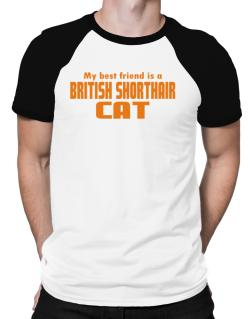 My Best Friend Is A British Shorthair Raglan T-Shirt