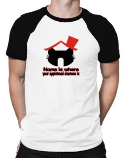 Home Is Where Applehead Siamese Is Raglan T-Shirt