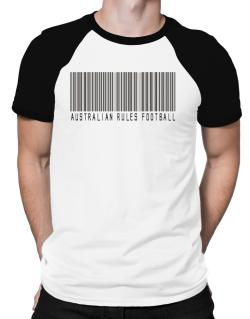 Australian Rules Football Barcode / Bar Code Raglan T-Shirt