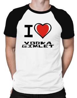 I Love Vodka Gimlet Raglan T-Shirt