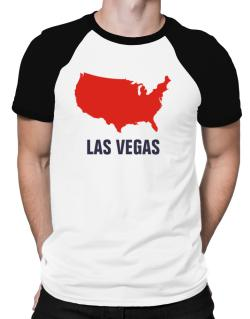 Las Vegas - Usa Map Raglan T-Shirt