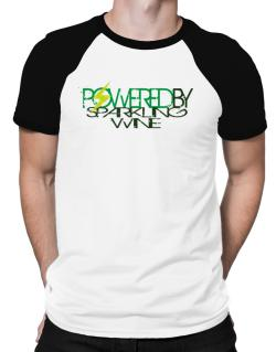 Powered By Sparkling Wine Raglan T-Shirt