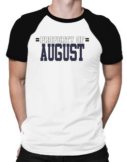 """ Property of August "" Raglan T-Shirt"