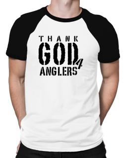 Thank God For Anglers Raglan T-Shirt