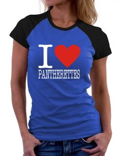I Love Pantherettes Women Raglan T-Shirt