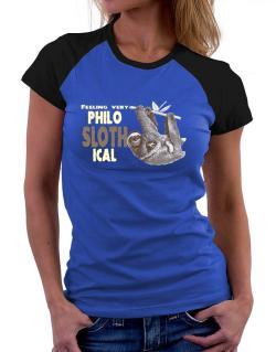 Philosophical Sloth Women Raglan T-Shirt