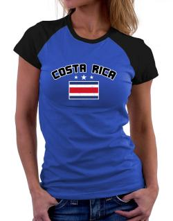 Costa Rica flag Women Raglan T-Shirt