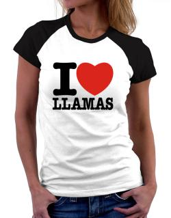 I Love Llamas Women Raglan T-Shirt