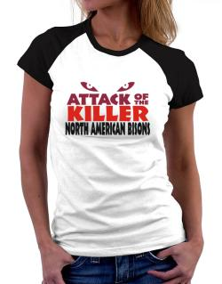 Attack Of The Killer North American Bisons Women Raglan T-Shirt
