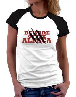 Beware Of The Alpaca Women Raglan T-Shirt