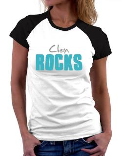 Clem Rocks Women Raglan T-Shirt