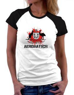 Australia Aerobatics / Blood Women Raglan T-Shirt
