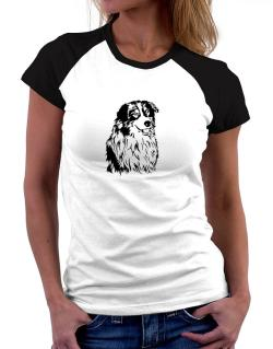 Australian Shepherd Face Special Graphic Women Raglan T-Shirt
