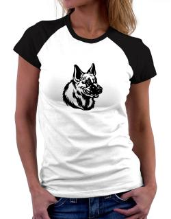 """ Belgian Malinois FACE SPECIAL GRAPHIC "" Women Raglan T-Shirt"