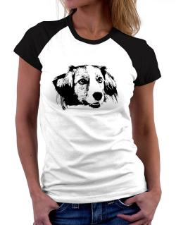 """ Kooikerhondje FACE SPECIAL GRAPHIC "" Women Raglan T-Shirt"