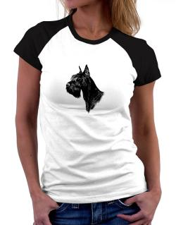 """ Schnauzer FACE SPECIAL GRAPHIC "" Women Raglan T-Shirt"