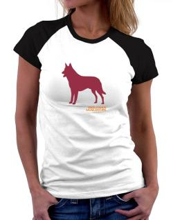 Belgian Malinois Stencil / Chees Women Raglan T-Shirt