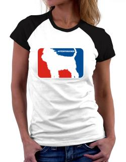 Affenpinscher Sports Logo  Women Raglan T-Shirt