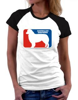 Australian Shepherd Sports Logo Women Raglan T-Shirt