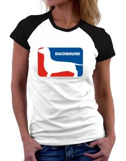 Dachshund Sports Logo Women Raglan T-Shirt