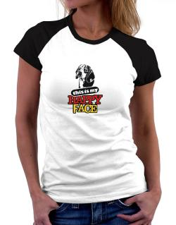 Happy Face Beagle Women Raglan T-Shirt