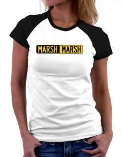 Negative Marsh Women Raglan T-Shirt