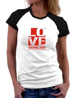 Love Khalsa Women Raglan T-Shirt