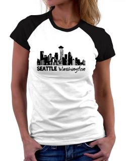 Seattle, Washington skyline Women Raglan T-Shirt