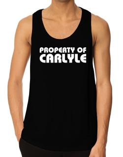 """ Property of Carlyle "" Tank Top"