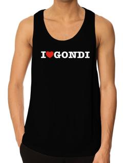 I Love Gondi Tank Top