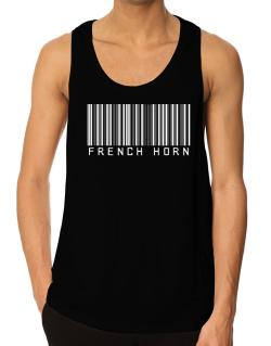 French Horn Barcode Tank Top