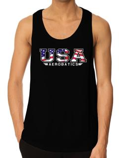 Usa Aerobatics / Flag Clip - Army Tank Top