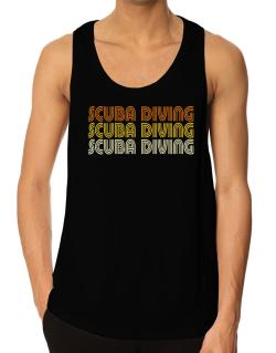 Scuba Diving Retro Color Tank Top
