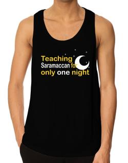 Teaching Saramaccan For Only One Night Tank Top