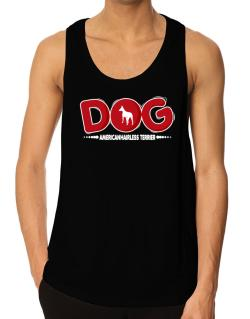 American Hairless Terrier / Silhouette - Dog Tank Top