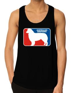 Australian Shepherd Sports Logo Tank Top