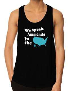 Ammonite Is Spoken In The Us - Map Tank Top