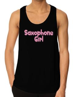 Saxophone Girl Tank Top