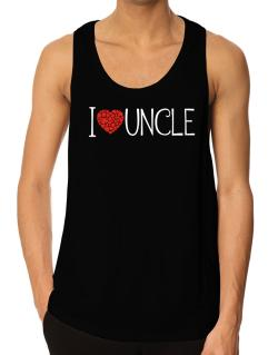 I love Auncle cool style Tank Top