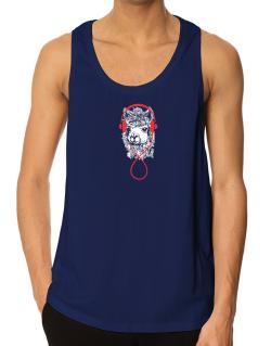 Llama with headphones Tank Top
