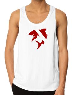 Diver down Shark Scuba Diving Tank Top